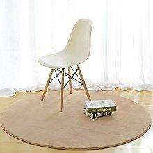 HSRG Rug Runde einfarbig teppiche Stuhl Matte