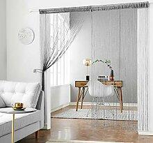 HSYLYM Glitzer-Fadenvorhang, Vorhangschals aus