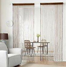 HSYLYM Stricken String Vorhang Panels Dicht