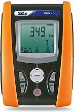 HT-Instruments Digitaler VDE 0100 Erdwiderstandsprüfer 0,01 Ohm bis 50 K Ohm, 1 Stück, GEO 416