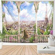 HTAPE Wandteppich, Blume Wandteppich Wandbehang