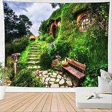 HTAPE Wandteppich, Feld Blume Decke Boho Teppich