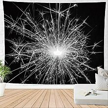 HTAPE Wandteppich, Feuerwerk Wandbehang Funken
