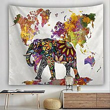 HTAPE Wandteppich, Indische Elefant Mandala Blume
