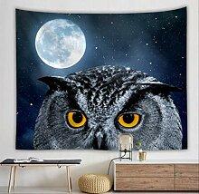 HTAPE Wandteppich, Mond Galaxy Wandbehang Decke