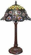 Htdeco - Luminaires - Tiffany Pfau Lampe