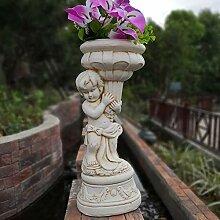 HTDZDX Garten Ornamente Engel Charakter Skulptur