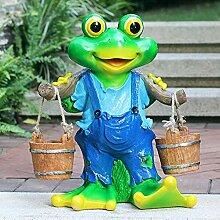 HTDZDX Garten Ornamente Frosch Picking Skulptur