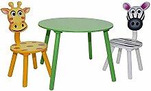 HTI-Line Kindertischgruppe Zebra Tisch und 2