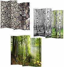 HTI-Line Paravent Bäume Sichtschutz Spanische