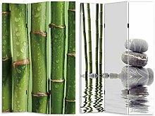 HTI-Line Paravent Bambus 2 Sichtschutz Spanische