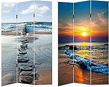 HTI-Line Paravent Beach Sichtschutz Spanische Wand
