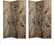 HTI-Line Paravent Birds Sichtschutz Spanische Wand
