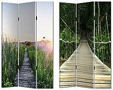 HTI-Line Paravent Bridge Sichtschutz Spanische