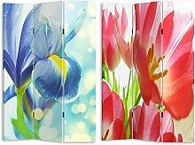 HTI-Line Paravent Flowers Sichtschutz Spanische