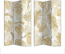 HTI-Line Paravent Gold Sichtschutz Spanische Wand