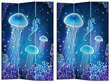HTI-Line Paravent Jellyfish Sichtschutz Spanische