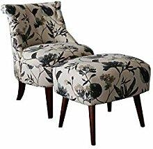 HTI-Line Sessel Anita Einzelsessel mit Hocker TV
