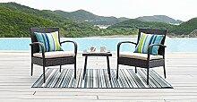 HTI-Line Terrassenmöbel Neapel Loungemöbel Gartenmöbel Garnitur