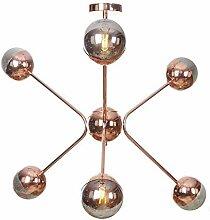 HTL 6 Lichter Sputnik Globus Glas Kronleuchter