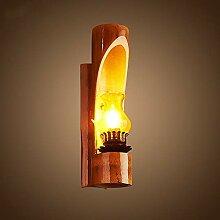HTL Dekorative Nacht Lampe - Bambus Kunst Wand