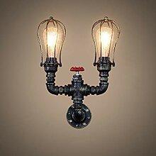 HTL Dekorative Nachtlampe - Wandlampe Eisen Art