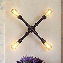 HTL Dekorative Nachtlampe - Wandlampe Eisen Kunst