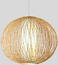 HTL Leuchte, bambus led kronleuchter lampe