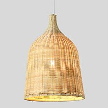 HTL Leuchte, Nordic Bamboo Art Rattan Weben Led