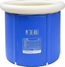HTZ Blaue Aufblasbare Badewanne PVCs Faltende