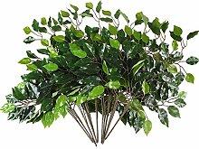 HUAESIN 12pcs Künstliche Eucalyptus Blätter
