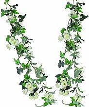 HUAESIN 2 Stück 235cm Künstliche Blumengirlande