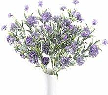 HUAESIN 3pcs Künstliche Blumen Lila Kunstblumen