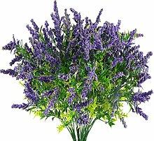 HUAESIN 4pcs Künstliche Lavendel Blumen Pflanzen