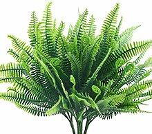 HUAESIN 4pcs Kunstpflanze Farn Künstliche Pflanze