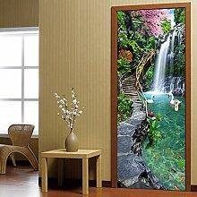 huafan Wasserfall Landschaft 3D Fototapete Für