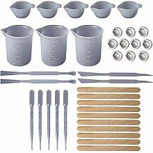 Huafi 1 Satz DIY Epoxidharz Werkzeuge Messen Cups