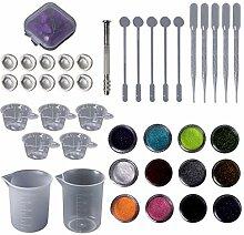 Huafi 1 Satz Epoxidharz Kit DIY Schmuck Trockene