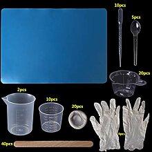 Huafi 1 Satz Epoxidharz Kit Einweghandschuhe