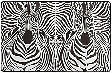huagu Badematte Teppich,Illustration Muster Zebras