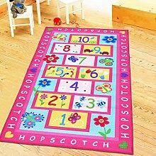Huahoo rosa Mädchen-Teppich, Rosa 39.4''