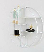 Huahua Furniture Wandregal, 4-stufiges rundes