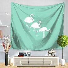 HUAIX Home Tapestry Tropische Pflanze Flamingo