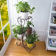 Huajia Eisen Blume Racks Boden Balkon Blumentöpfe Indoor und Outdoor-grüne Spider Pflanzen Bonsai Leiter Blume Regal (Farbe : Braun)