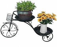 HUANGDA Balkon Blumenständer Schmiedeeisen