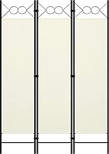 HUANGDANSP 3-TLG. Raumteiler Cremeweiß 120x180