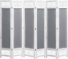 HUANGDANSP 6-teiliger Raumteiler Grau 210 x 165 cm