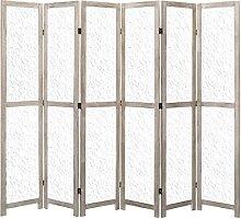 HUANGDANSP 6-teiliger Raumteiler Weiß 210 x 165