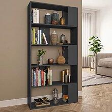 HUANGDANSP Bücherregal/Raumteiler Grau 80x24x159