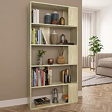 HUANGDANSP Bücherregal/Raumteiler Sonoma-Eiche